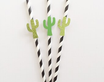 Cacti Party- Fiesta Party- Taco Party- Paper Straw-Cactus straw - Cacti Decor - Cactus Party - Desert Party - Birthday Party- Cacti- Cactus