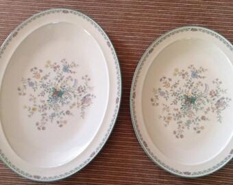 Noritake Oval Platter Set, 16 in & 14 in