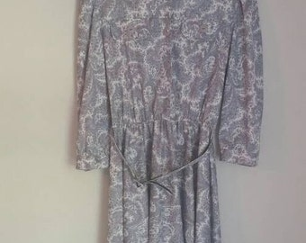 Vintage Paisley Print Secretary Dress by Whirlaway Size 12