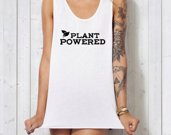 VEGAN TANK - Plant Powered - Vegan T-shirt  - Womens