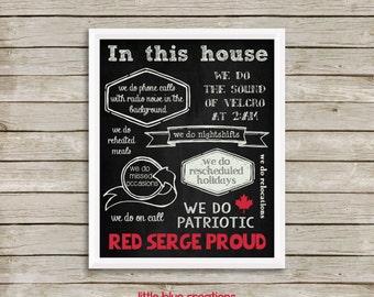 Red Serge Proud Print