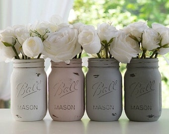 Urban Chic Farmhouse Mason Jar centre pieces