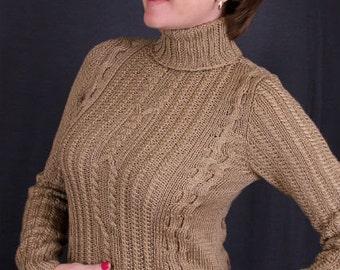 Aran Sweater, Autumn Sweater, Winter Sweater, Beige Sweater
