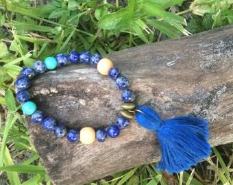 Blue Mala Bracelet