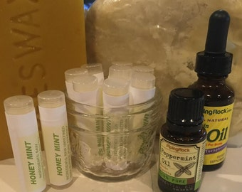 Honey Mint Lip Balm * Natural SPF