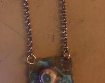 Crusty geo necklace