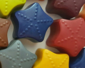 Star Crayons, Set of 8, Birthday Gifts, Kids Party