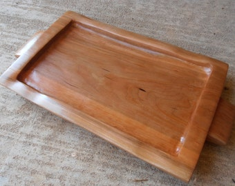 Handmade Cherry Wood Serving Tray