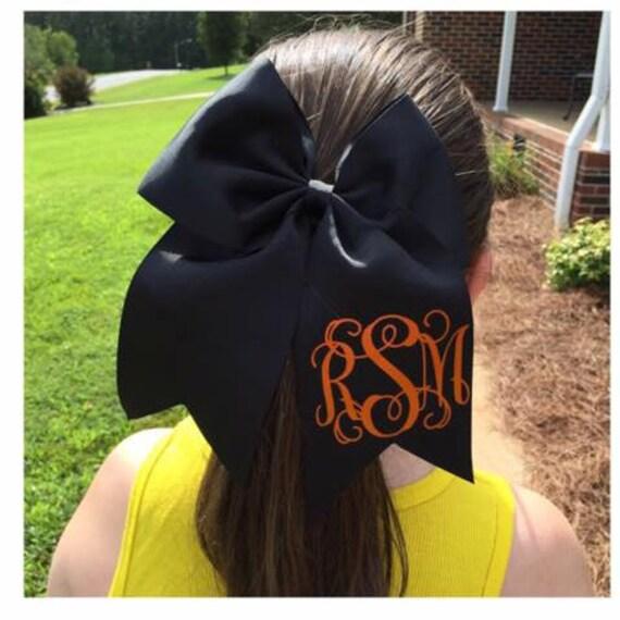 Custom Monogram Oversized Bow - Cheer Bow Softball Bow