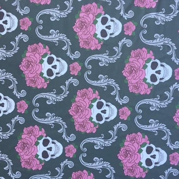 Skull Spandex, Yoga Pants Fabric, Spandex Lycra Fabric