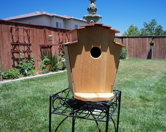 Handcrafted cedar birdhouse  #111 FREE SHIPPING