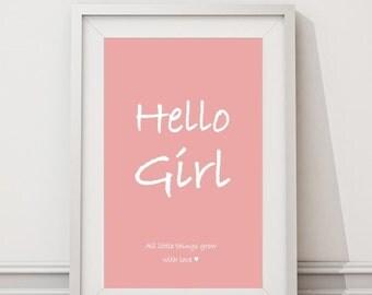 Print Hello girl
