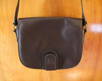 Vintage Anne Klein for Calderon Deep Brown Shoulder Bag
