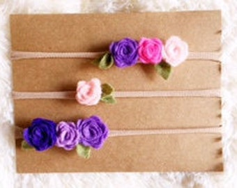 Pink and Purple Headband Trio