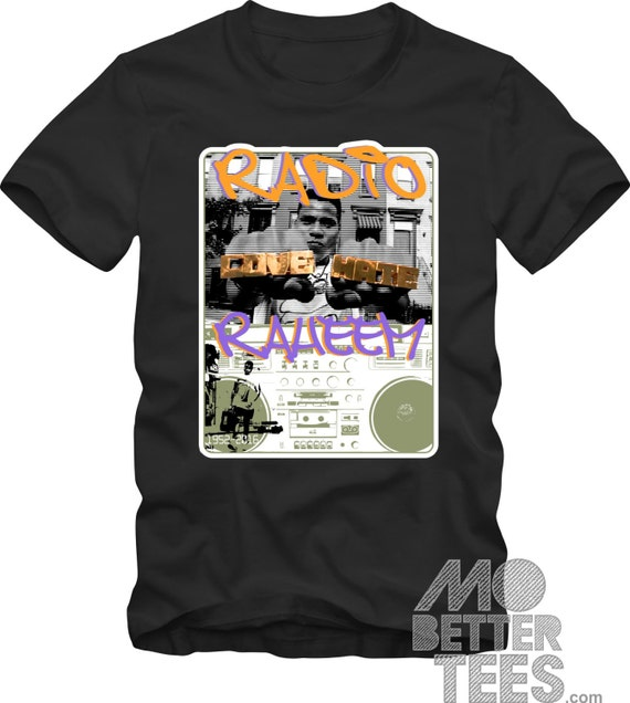 Radio Raheem BLACK T-Shirt Do The Right Thing A Spike Lee Joint 1989 LOVE HATE