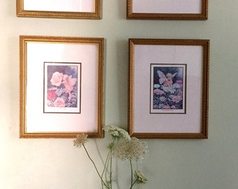 4 Flower Fairiy Pro Framed and matted Prints Cicely Barker