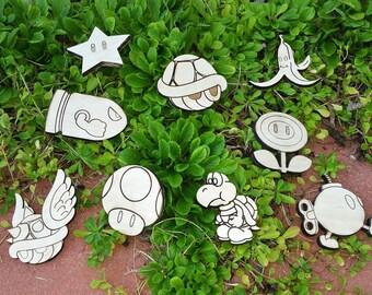 Mario & Friends Laser Engravings