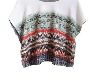 Digital prints Tshirt contemporary top