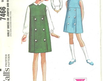 Vintage Girl's Dress Sewing Pattern McCall's 1960s
