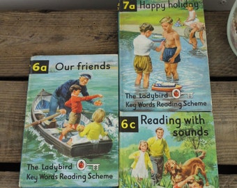 Our Friends/Happy Holiday/ Reading with Sounds/Ladybird Books Set of Three/Children's Book/ Vintage Ladybird/Vintage Books/1960s (0021N)