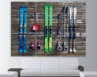 Ski Decor Ski Wall Art Skiing Wall Art Ski Poster Ski Print Ski Photo Ski Wall Decor Ski Canvas Ski Art Winter Sport Canvas Art