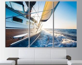 Yacht Wall Art Yacht Canvas Yacht Print Yacht Photo Yacht Poster Cruise Wall Art Adventure Wall Art Yacht Wall Decor Ocean Sea Waves Boat