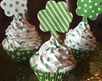 St. Patrick's Day Fake Cupcakes