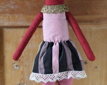 Red Art Doll - Bald Princess