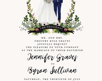 Wedding Invitation-Custom Illustration