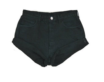 SALE - Black High Waisted Shorts