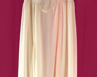 1950s Vintage Nylon and Chiffon Nightgown