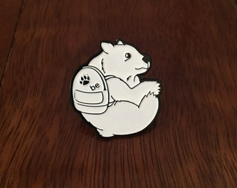 BE White Bear Lapel Pin