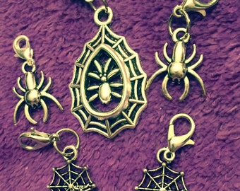 Spider and Spiderweb Charms
