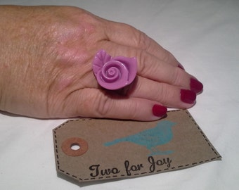 Silver plated Large Rose Ring