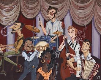 "Fine Art Print ""The Musicians"""