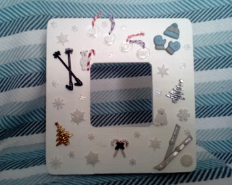 Snow ~ Wooden Picture Frame