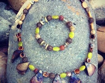 Women's Bohemian Necklace and Bracelet Set