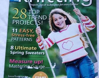 Spring 2012 Love of Knitting Pattern Magazine New