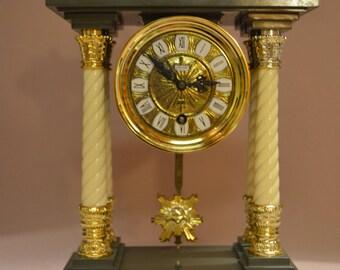 Vintage SCHMID 8 Day Mantel Pendulum Clock Mid Cent. Shelf