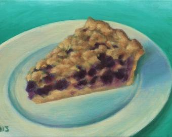 A piece of Blueberry Pie