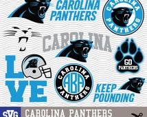 CAROLINA PANTHERS SVG logos, monogram silhouette, cricut, cameo, screen printing Sp-02