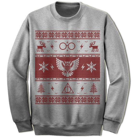 Owl Ugly Christmas Sweater Sweatshirt. Scandinavian Motive