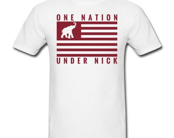 Men's One Nation Under Nick T-Shirt for Alabama Football Fans!