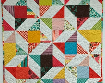 "48"" x 60"" Pre-Cut Quilt Kit - ready to assemble - Friendship Star - It's a Hoot by MoMo from Moda Fabrics"