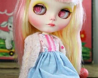 """OOAK Custom Blythe Art Doll """"Bubblegum"""" by Dear Girlface Dolls"""