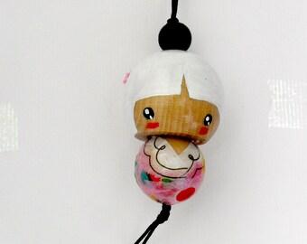 Handmade Kokeshi Charm Ornament - hoshi