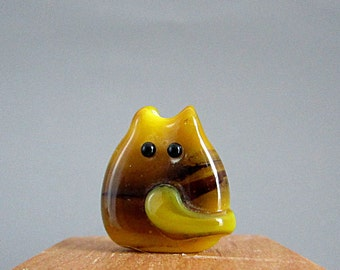 Cat Bead Handmade Lampwork Focal - Patty FatCat