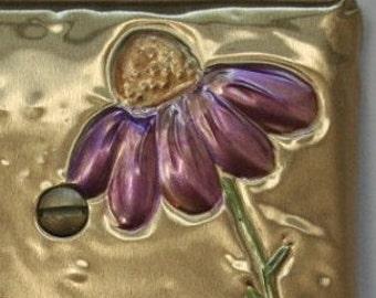 Purple cozmos on Brass
