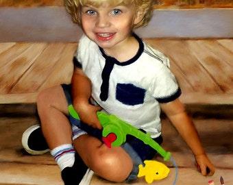 Custom Portrait of Children I Boy Portrait I Child Portraits by NC