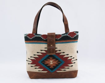 SALE! Ann Shoulder Bag in Cream Wool Saddle Blanket
